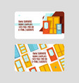 front doors for houses and buildings set of vector image vector image