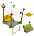 furniture and butterfly decorations for veranda vector image vector image