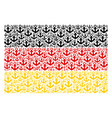 germany flag pattern of anchor icons vector image
