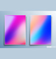 gradient texture design set for background vector image vector image