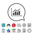 graph chart sign icon diagram symbol vector image vector image