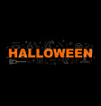 halloween banner word with line icon vector image