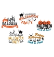 Halloween holiday party posters and banners vector image