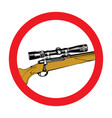 hand-drawn sniper rifle with telescopic sight vector image vector image