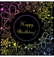 Happy birthday card with gradient hearts and vector image vector image