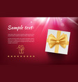 holiday banner with gift boxes placard vector image vector image