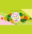 horizontal spring sale banner design vector image vector image
