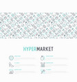 hypermarket concept with thin line icons vector image vector image