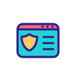 insurance card icon isolated contour vector image vector image