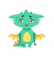 Little Anime Style Baby Dragon Upset And vector image vector image