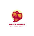 logo firecrackers gradient colorful style vector image