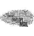mail word cloud concept vector image vector image