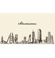 Manama skyline Bahrain drawn sketch vector image vector image