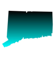 Map of Connecticut vector image vector image