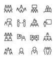 Meeting conference icon set thin line icons