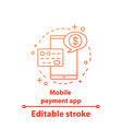 mobile payment app concept icon vector image vector image