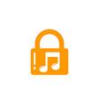 music security logo icon design vector image vector image