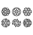 ornament decorative celtic knots and curls set vector image