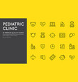 outline icons set pediatric hospital clinic vector image