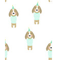 pattern of cute dog vector image vector image