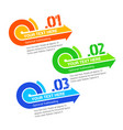 progress step arrow labels with space for text vector image vector image