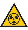 radiation warning sign isolated vector image vector image
