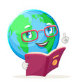 reading book ecology happy emotion nature earth vector image