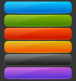 rectangle horizontal bright colorful button vector image