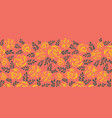 scandinavian flat roses border tile coral vector image vector image
