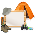 Scouting Board vector image vector image