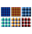 seamless checkered plaid pattern bundle 3 vector image
