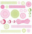 Set of elements for design Buttons and Pearls vector image