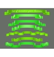 Set of green ribbons vector image vector image
