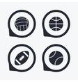 Sport balls Volleyball Basketball Baseball vector image