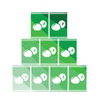 stack of olive cans icon vector image