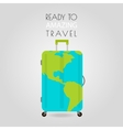 Suitcase icon Suitcase with Earth on surface vector image