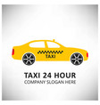 taxi icon taxi service 24 hour serrvice yellow vector image vector image