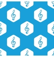 Treble clef hexagon pattern vector image vector image
