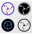 turbine rotation eps icon with contour vector image vector image