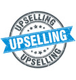 upselling round grunge ribbon stamp vector image vector image