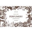 Vintage perfumery and cosmetics set