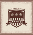 vintage usa patriot label vector image vector image