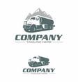 water truck logo vector image vector image