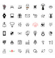 wedding icons large set for organizing and vector image vector image