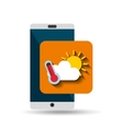 white smartphone weather network digital vector image