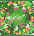 wreaths leaves and flowers banner vector image vector image