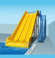 yellow plastic water-slides vector image