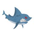 Angry shark Marine predator with large teeth vector image