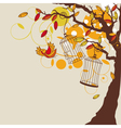 abstract autumn background with tree vector image