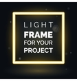 abstract neon frame light frame for your vector image vector image